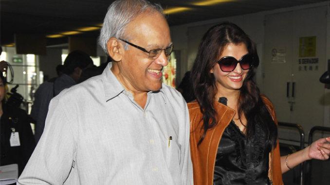 Aishwarya Rai Bachchan with father Krishnaraj Rai