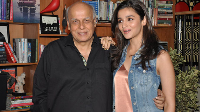Mahesh Bhatt with daughter Alia Bhatt