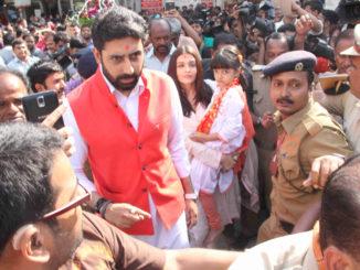 Abhishek, Aishwarya and Aaradhya Bachchan