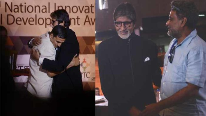 Amitabh Bachchan shoots with Akshay Kumar, and in conversation with R Balki