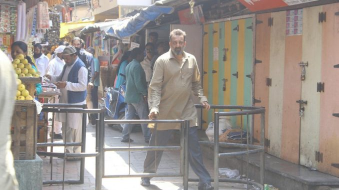 Sanjay Dutt shooting his last day on the sets of Bhoomi