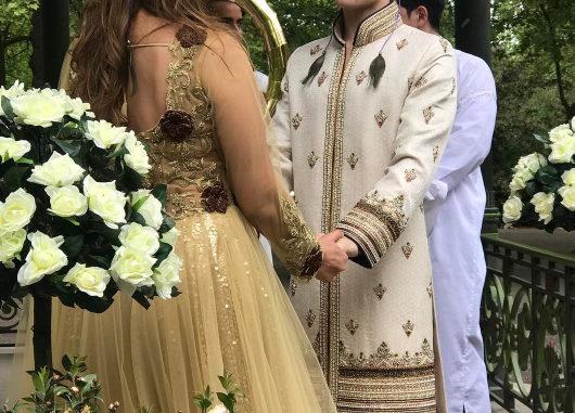 Sofia Hayat, Vlad Stanescu at their Egyptian-themed wedding