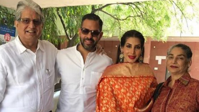Sunjay Kapur, Priya Sachdev after their private wedding ceremony Image Courtesy: Instagram