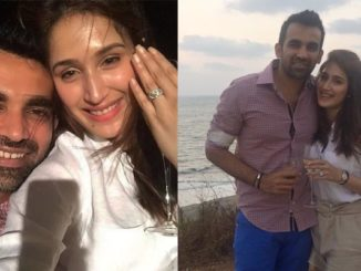 Zaheer Khan, Sagarika Ghatge announce their engagement. Image Courtesy: Twitter