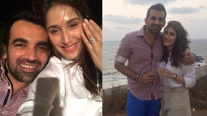 Zaheer Khan, Sagarika Ghatge announce their engagement. Image Courtesy: Twitter