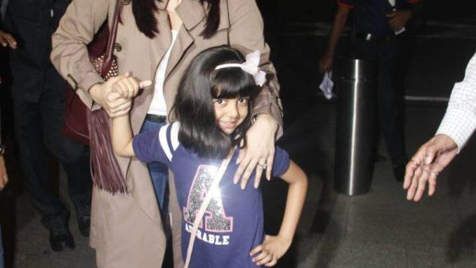 Aishwarya Rai Bachchan with Aaradhya Bachchan