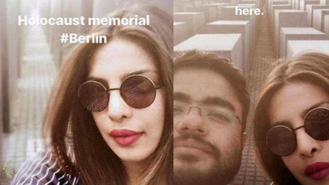 Priyanka Chopra's selfies at the Holocaust memorial
