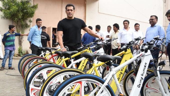 Salman Khan at Being Human cycles launch