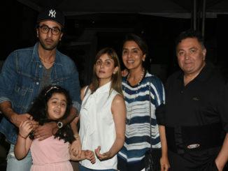 Ranbir Kapoor, Riddhima Kapoor Sahni with her daughter Samara Sahni, Neetu Singh and Rishi Kapoor
