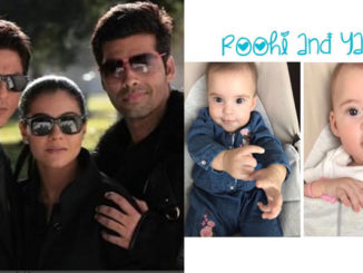 Karan Johar with Kajol, Shah Rukh Khan and his kids, Yash and Roohi
