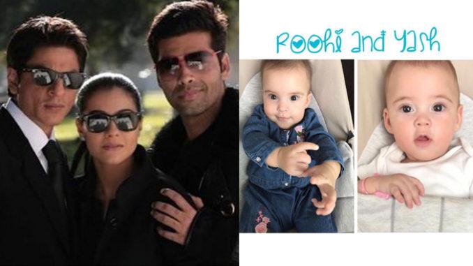 Karan Johar with Kajol, Shah Rukh Khan and his kids, Yash and Roohi