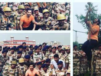 Varun Dhawan with the Indo-Tibetan Border Police