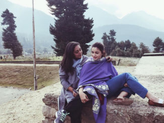 Alia Bhatt with Meghna Gulzar in Kashmir. Image Courtesy: Instagram