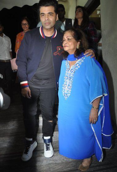 Karan Johar with mother Hiroo
