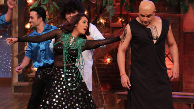 Kashmira Shah performs with Krushna Abhishek on The Drama Company