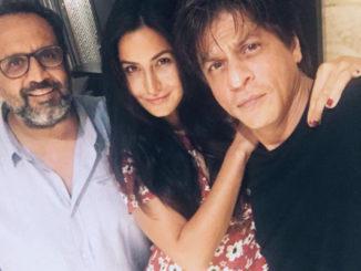 Katrina Kaif with Shah Rukh Khan, Anand L Rai