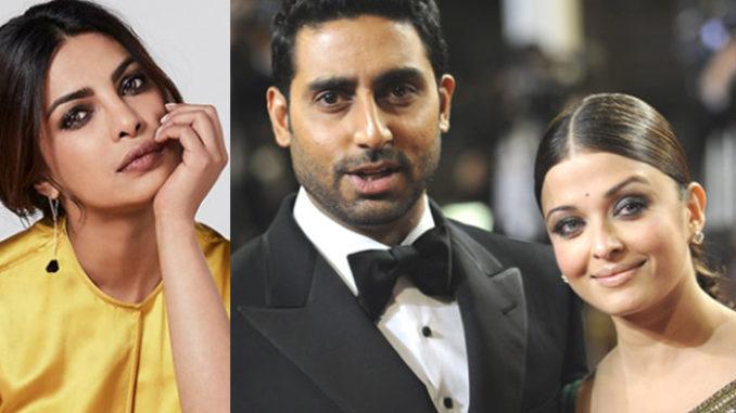 Priyanka Chopra, Abhishek and Aishwarya Rai Bachchan