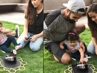 Shahid Kapoor, Mira Rajput with daughter Misha. Image Courtesy: Instagram