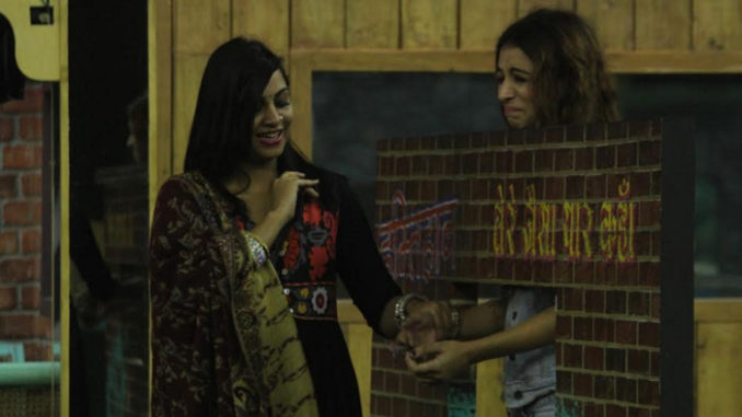 Arshi and Benafsha performing the friendship task