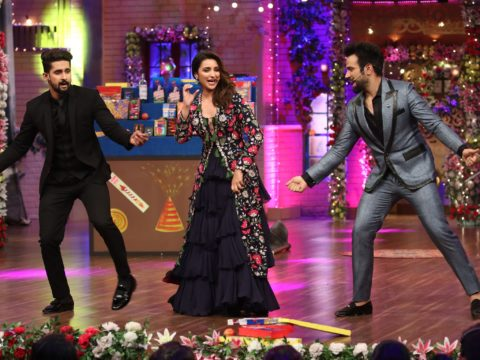 Parineeti Chopra shakes a leg with Ravi Dubey and Ritvik Dhanjani on The Drama Company