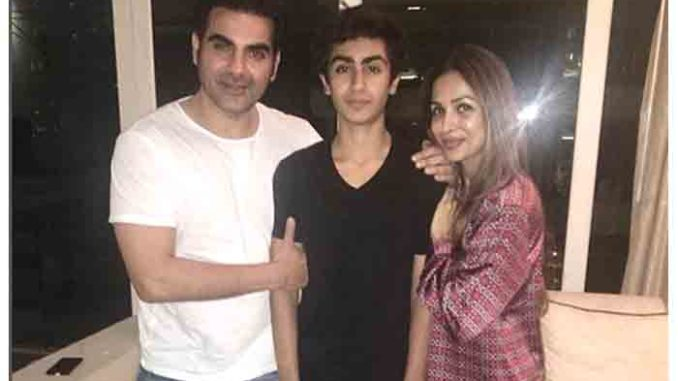Arbaaz Khan, Arhaan and Malaika Arora
