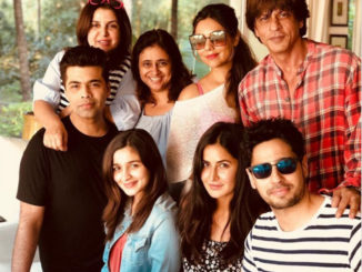 Karan Johar, Farah Khan, Gauri Khan, Alia Bhatt, Katrina Kaif, Sidharth Malhotra with Shah Rukh Khan
