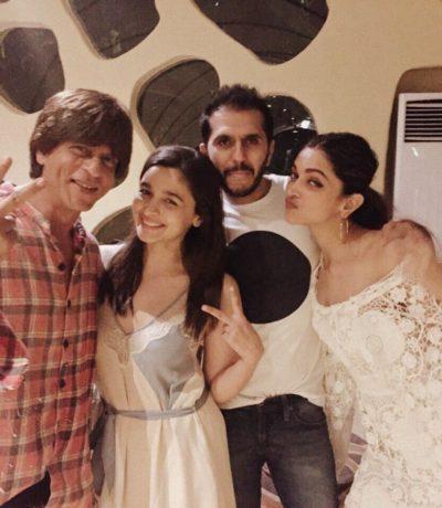 Shah Rukh Khan, Alia Bhatt, Ritesh Sidhwani, Deepika Padukone
