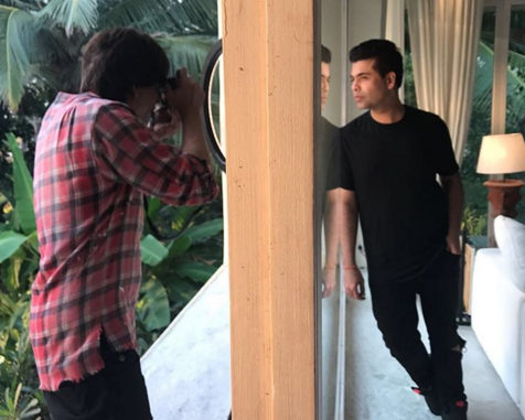 Shah Rukh Khan captures Karan Johar at his Alibaug bungalow
