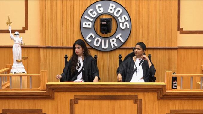 Bandagi and Sapna as judges in the Bigg Boss court