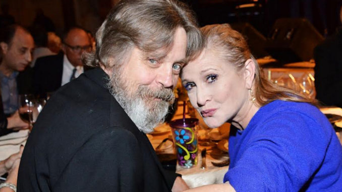 A file photo of Mark Hamill with Carrie Fisher