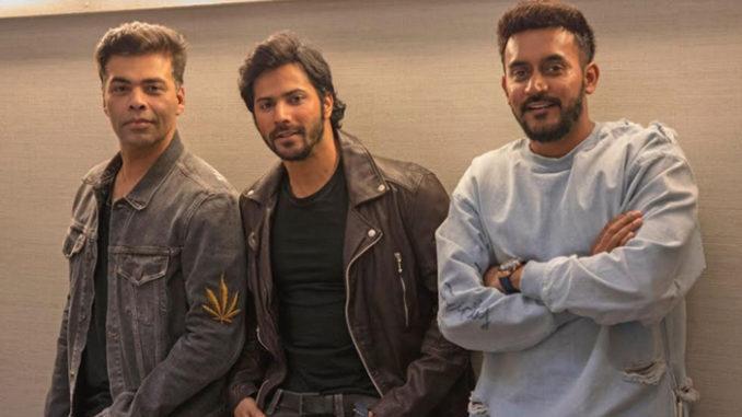 Karan Johar, Varun Dhawan, Shashank Khaitan