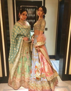 Sridevi with daughter Khushi at the wedding