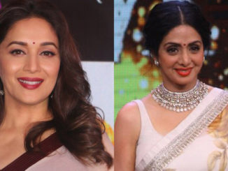 Madhuri Dixit, a file photo of Sridevi