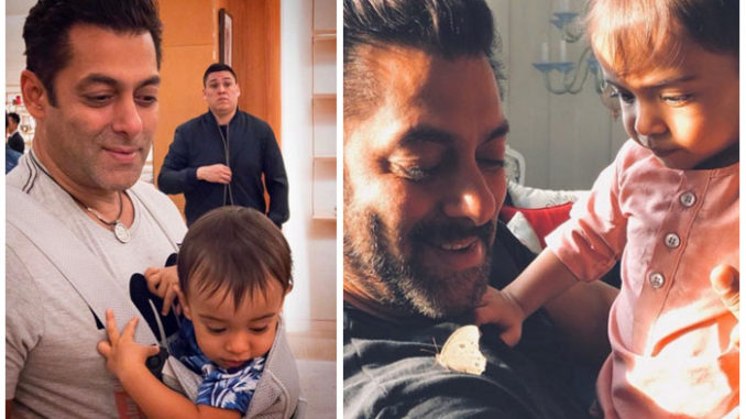 Salman Khan with Ahil Sharma