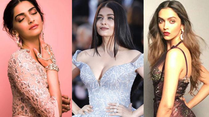 Sonam Kapoor, Aishwarya Rai Bachchan, Deepika Padukone