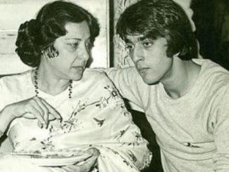 A file photo of Nargis Dutt, Sanjay Dutt