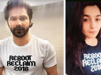Varun Dhawan, Alia Bhatt sport T-shirts from the new collection