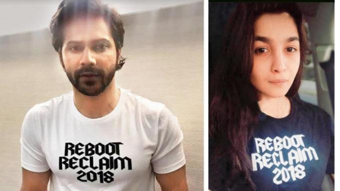 Varun Dhawan, Alia Bhatt sport T-shirts from the new collection