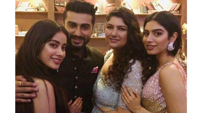 Jhanvi, Arjun, Anshula and Khushi Kapoor