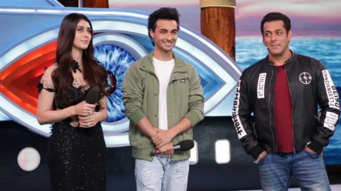 Warina, Aayush and Salman Khan on Bigg Boss 12