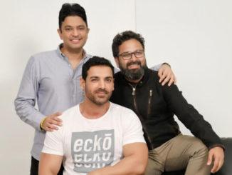 John Abraham, Bhushan Kumar and Nikkhil Advani