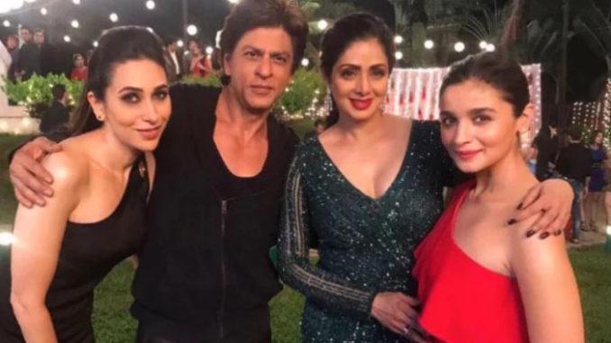 Karisma Kapoor, Alia Bhatt, Sridevi and Shah Rukh Khan